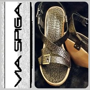 Via Spiga Shoes - 👠 Leather Wedge Sandals W/Box