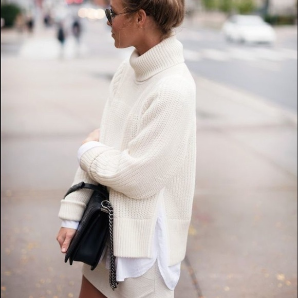 47% off Helmut Lang Sweaters - Helmut Lang Cream Turtleneck ...