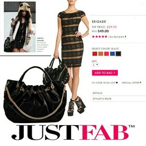 ⬇Oversized Black Purse from JustFab