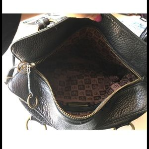 Linea Pelle Bags - Linea Pelle Black Leather Handbag Purse