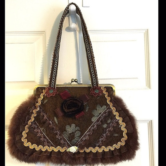 Boutique Handbags - Artisan Crafted Unique Handbag purse Vintage  like