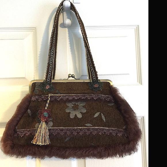 Boutique Bags - Artisan Crafted Unique Handbag purse Vintage  like