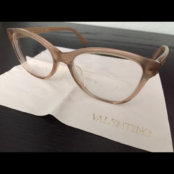 362b42581e Rx Authentic Valentino eye glasses (nude frames). M 54d8ed0e2599fe15ad025b42
