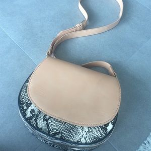 H&M Handbags - H&M new with tags nude/snake print bag