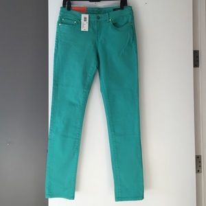 NWT Turquoise skinny jeans