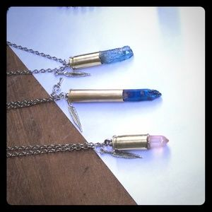 3 layered bullet necklace