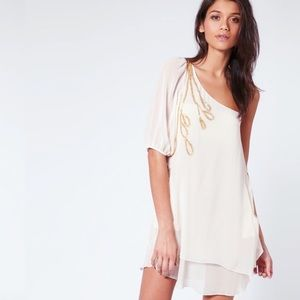 Gorgeous ASOS embellished one shoulder tunic dress