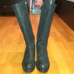 Emporio Armani Tall Leather Boots