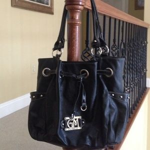 Gia Milani Handbags - ADORABLE BLACK PATENT HANDBAG