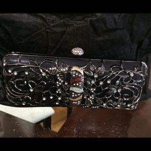 Ornate Jeweled Metal Clutch