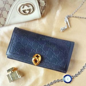 GUCCI Guccissima Black Wallet