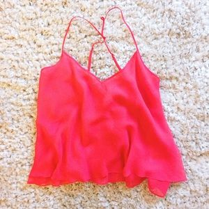 Red Strappy Tank Top