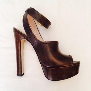 💕2X HOST PICK! •• Miu Miu Brown Wooden Heels