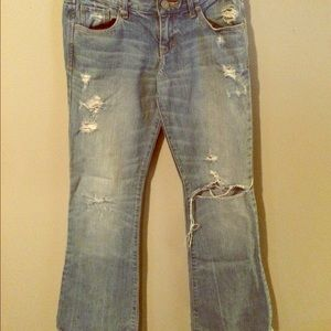 Light, Distressed, Abercrombie &  Fitch Jeans