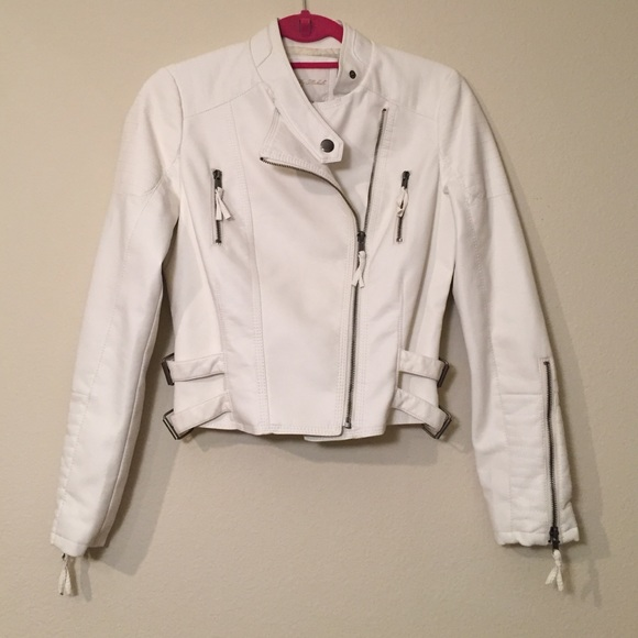 My Michelle Jackets & Coats - White Faux Leather Jacket, Size S