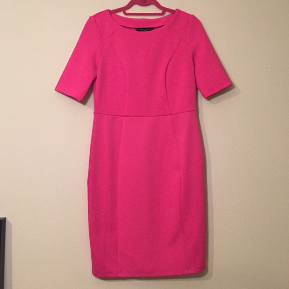 Dorothy Perkins Dresses & Skirts - Dorothy Perkins Pink Waffle Knit Pencil Dress Sz 8