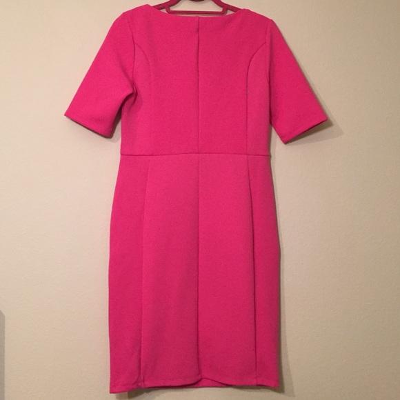 Dorothy Perkins Dresses - Dorothy Perkins Pink Waffle Knit Pencil Dress Sz 8