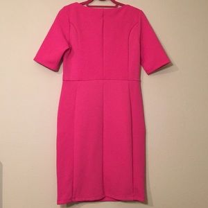 Dorothy Perkins Dresses - Dorothy Perkins Pink Waffle Knit Pencil Dress Sz 8