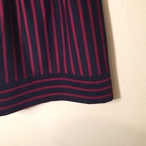 Merona Dresses - Merona Navy and Maroon Striped Dress Size XS