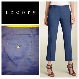 "Theory ""Calvan C"" cropped pants - blue"