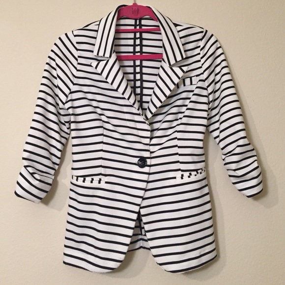 Charlotte Russe Jackets & Coats - Charlotte Russe Ponte Knit Striped Blazer Size S