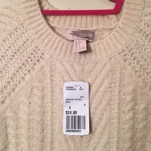Forever 21 Sweaters - NWT Forever 21 Cream Cable Knit Sweater Sz S