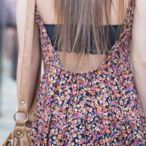 Dresses & Skirts - floral print open back dress - os