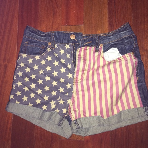 69% off Rue21 Denim - American flag high waisted shorts from ...