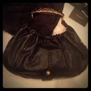 86% off Yves Saint Laurent Handbags - YSL GRAY RIVE GAUCHE SATCHEL ...