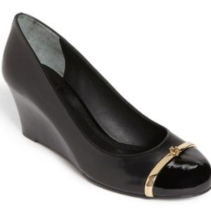 Tory Burch Black Pacey Wedge size 8
