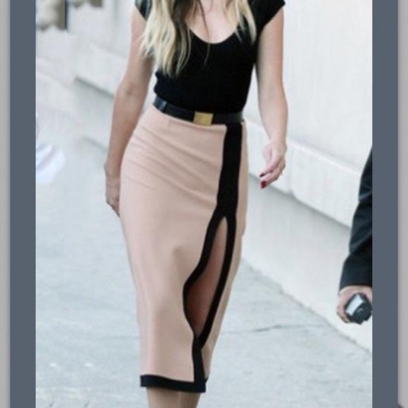 Be Seen Sales Dresses & Skirts - NEW** Jersey Black and Tan Sheath Dress- Medium
