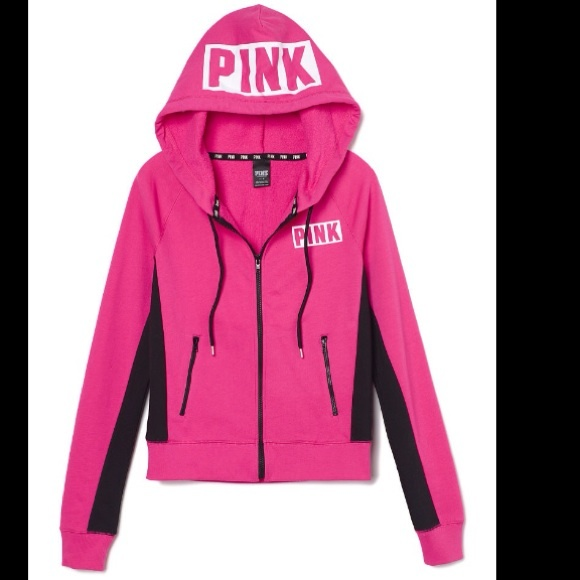 PINK Victoria's Secret - PINK VS Perfect Zip Hoodie NWT FIRM from ...