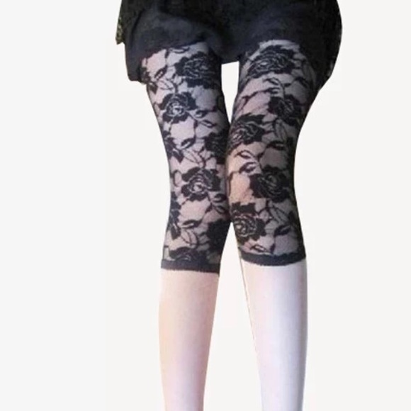60% off Chic007 Pants - Closing 12 Feb: Black Lace Capri Leggings ...