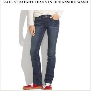 Madewell Rail Straight Jeans in Oceanside Wash 24