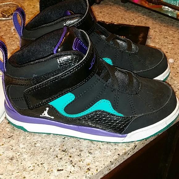 d0642316aa4e8b Jordan Other - Toddler Jordans... Purple black turquoise Kids 10c