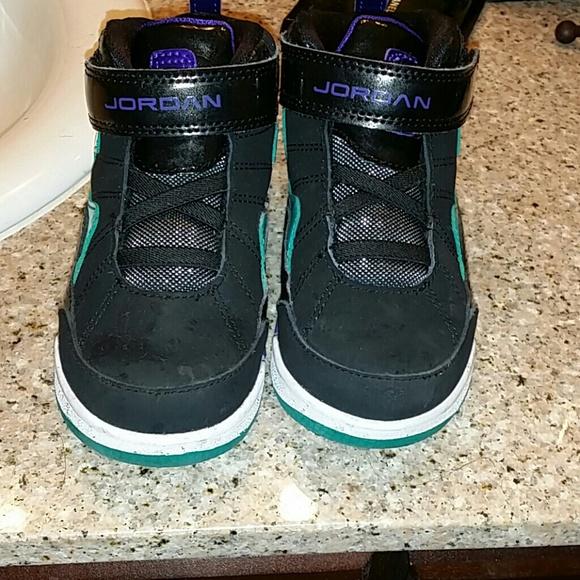 58 shoes toddler jordans purple black