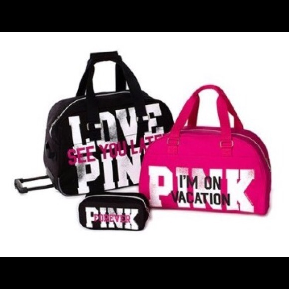 PINK Victoria's Secret - ISO! Victoria Secret Pink 3 piece luggage ...