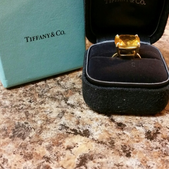 75d2df23b Tiffany & Co. Jewelry | Tiffany Co Sparklers Citrine Cocktail Ring ...