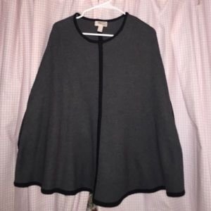 Forever 21 Cape with faux leather lining