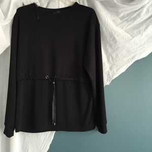 ZARA • waist-cinch top