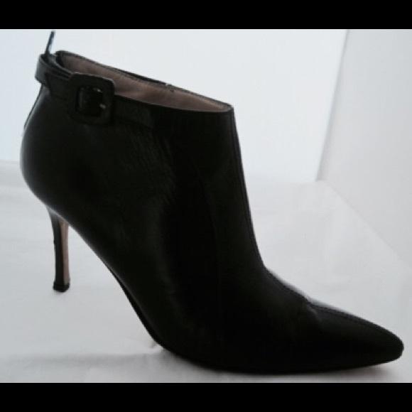 55% off Manolo Blahnik Shoes - Manolo Blahnik Black Stiletto Ankle ...
