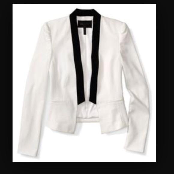70aa89a80e3 BCBGMaxAzria Jackets & Coats | Bcbg White Tuxedo Jacket | Poshmark
