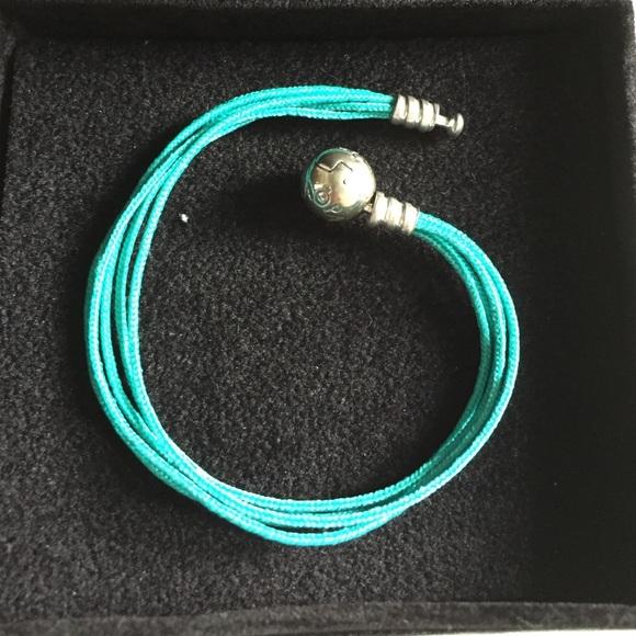 baaddcb5221c2 NEW Pandora silver fabric string bracelet