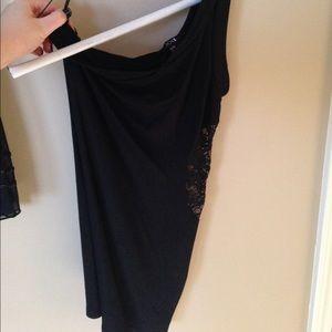 Black One-Shoulder Mini Dress