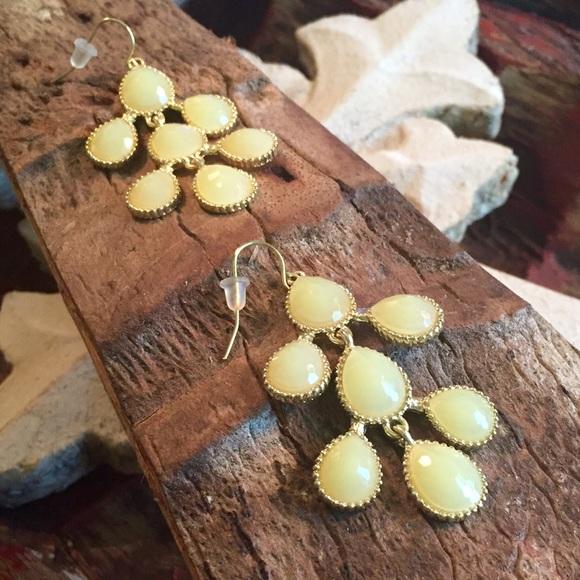 Melon colored chandelier earrings