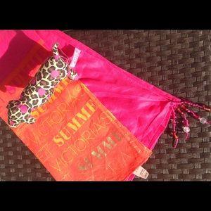Dresses & Skirts - Victoria secret Hot Pink & Orange Sarong