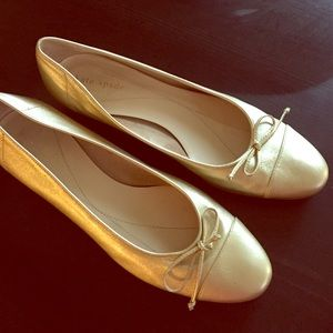 Kate Spade New York Gold Ballet Flats