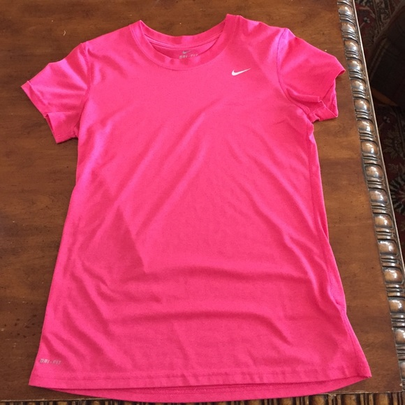 50% off Nike Tops - Nike crew neck hot pink Sri fit shirt sleeve ...