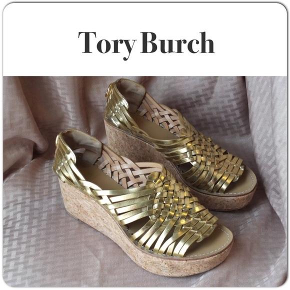 a087040d909 Tory Burch Huaraches Wedge Sandals. M 54da7d8a78b31c2334032e1f