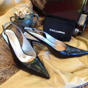 AUTHENTIC DOLCE & GABBANA Sling Back Pumps
